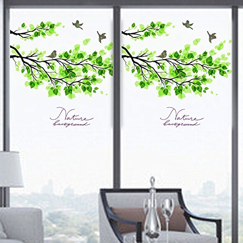 EsportsMJJ 60x58cm mat ondoorzichtig glas venster film boom en vogel privacy glas Stickers Home Decor