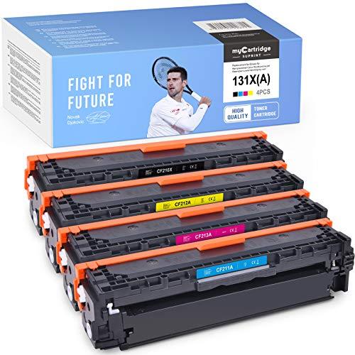 myCartridge SUPRINT wiederaufbereitete Toner Ersatz für HP 131X 131A CF210X CF211A CF212A CF213A für HP Laserjet Pro 200 Color M251n M251nw MFP M276n M276nw Drucker