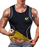 LAZAWG T-Shirt pour Homme Sudation de Sport Corset Combinaison de Sudation Debardeur de Sudation Neoprene