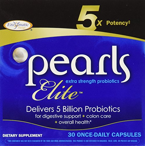 Pearls Elite High Potency Probiotics, 30 Capsules, from Enzymatic Therapy (Multi-Pack)