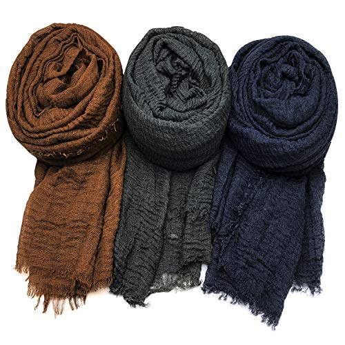 AxeSickle Women Scarf Shawl for All Seasons 3PCS Scarves Wrap Head Scarves H
