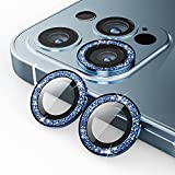 ZIYE Camera Lens Protector for iPhone 12 Pro Max(6.7inch) Upgraded Glitter HD Tempered Glass Aluminum Alloy Lens Screen Cover Film - Sparkling