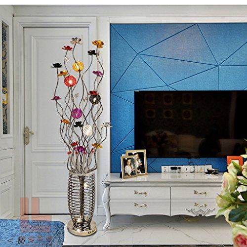 Staande lamp staande lamp, meerkleurige landelijke persoonlijkheid mode woonkamer slaapkamer bedlampje LED