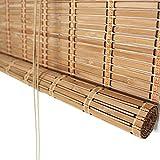 Estor enrollable YXX Sombrillas Exteriores para Puertas de Patio, Bambú 60% Protector Solar Persiana Enrollable para Ventana/Privacidad Cortada para pérgola, glorieta y cochera