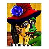 Pintura por números, Kit de Pintura al óleo de Lona de Bricolaje para niños Adultos Pigmento acrílico, Pintura de Dibujo con 3 Pinceles niña Color (Size : 30x40cm)