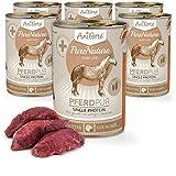 AniForte® PureNature easyBarf Single Protein 400g 100% Fleisch Hundefutter- Naturprodukt für Hunde (Pferd Pur, 6x400g)