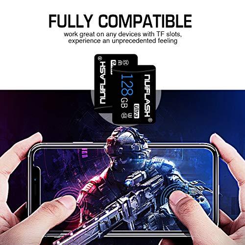128GB Micro SD-Karte mit Adapter (Klasse 10 High Speed) Video Micro SD-Speicherkarte/SD-Speicherkarten für Kamera, Telefon, Computer, Nintendo Switch, Dash Came,Tablet