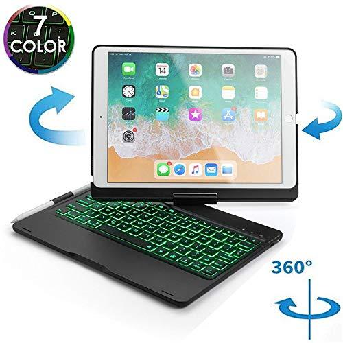 360度旋回 2019 新型 iPad7 iPad 10.2 インチ キーボード 7色 バックライト付き 第7世代 アイパッド7 キーボード ケース カバー Bluetooth ペンホルダー付き iPad10.2インチ アイパッド キーボード付きケース 3