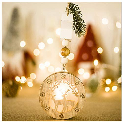 LED Dekoratives Leuchtbrett aus Holz Lichterkette Nachtlicht Zeichen Licht Dekor Schlafzimmer Wohnzimmer Garten Straße Dekoratives Licht Urlaub Beleuchtung (D)