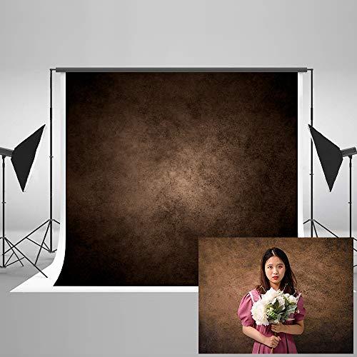 KateHome PHOTOSTUDIOS 2,2x1,5m Braun Porträt Fotohintergrund Vintage Foto Hintergrund Abstrakt Fotografie Hintergrund Hintergründe für Fotostudios Microfiber