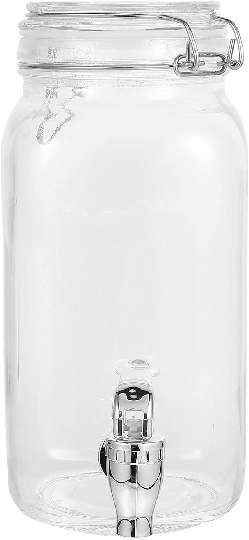 Cabilock Tea famous Mason Jar Glass Beverage G Metal with discount Lid Dispenser