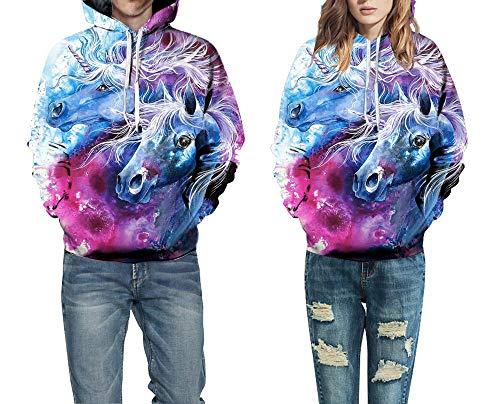 cxzas852 Männer und Frauen 3D Anime Gedruckt Hoodies Rundhals Langarm Warme Pullover Nylon Pullover Jacke Mantel mit Hut Lässige Mode Baseballuniform Sweatshirts