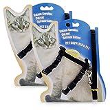 PETCUTE 2 Pièces Harnais Chat Harnais et Laisse pour Chaton réglable Harnais avec Laisse pour Animal Domestique