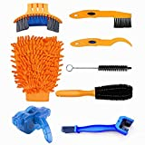 8pcs Bike Cleaning Tool Set Bike Chain Cleaner Tool Bicycle Clean Brush Kit Bike Cleaning Kits for Bike...