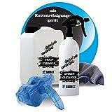 Kettenreiniger Fahrrad - inkl. Fahrradkettenreinigungsgerät + Mikrofasertuch - sehr ergiebig für bis zu 75 Anwendungen - Fahrradketten Reiniger - Kettenspray (3 Liter)