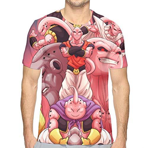 Luxcase Design T Shirt Man Buu 3D Printing Short Sleeve Tops Tee
