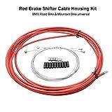 SUNWAN - Juego de cables de freno para bicicleta de montaña, color rojo