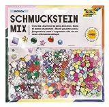 folia 12419 - Deko Schmuckstein-Set, über 800 Teile, sortiert - ideal zum Verzieren und Dekorieren Ihrer Bastelarbeiten