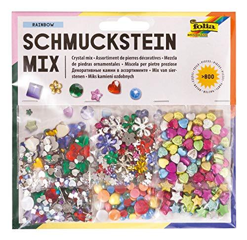 folia 12419 - Schmuckstein Mix Rainbow, über 800 verschiedene Schmucksteine,...