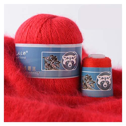 IENNSA 50 + 20 g/Set Long Mink Hilo de Cachemira Anti-Pilling Quality Hilo de Tejer a Mano para la...