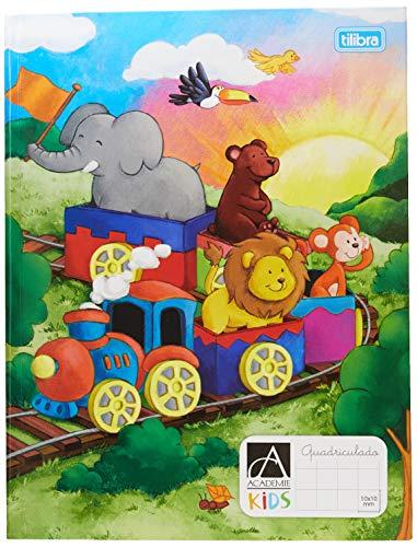 Caderno Quadriculado 1x1cm Brochura Capa Dura, Tilibra, Académie Kids, 18.7x24.5cm, 40 Folhas