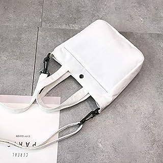 YKDY Shoulder Bag Leisure Fashion Corduroy Slant Shoulder Bag Handbag (Black) (Color : White)