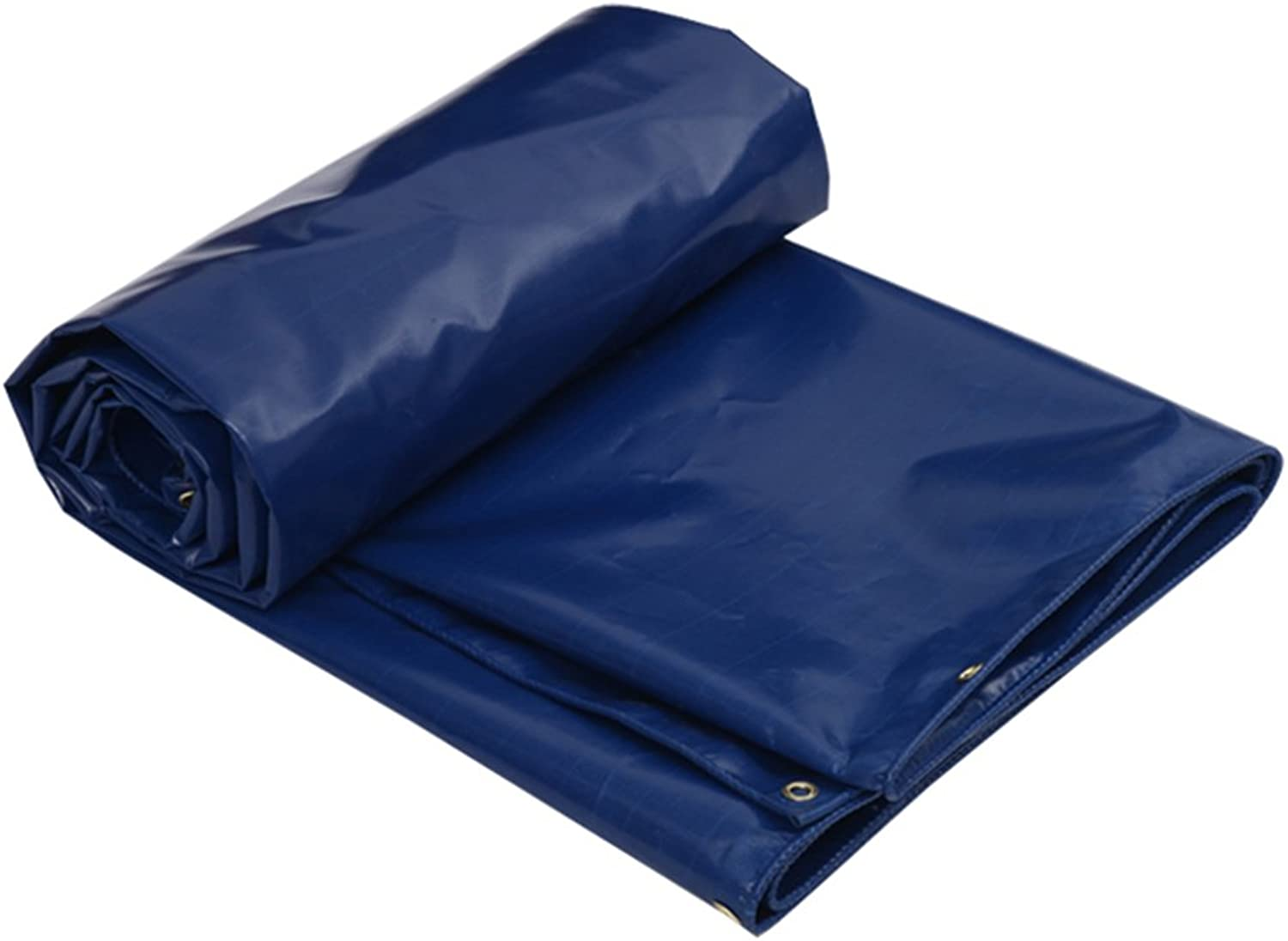 CHAOXIANG Tarpaulin Tent Foldable Thicken DoubleSided Waterproof Sun Predection ColdResistant WearResistant AntiCorrosion DustProof PVC blueee, 500g m2, 8 Sizes (color   blueee, Size   3x3m)