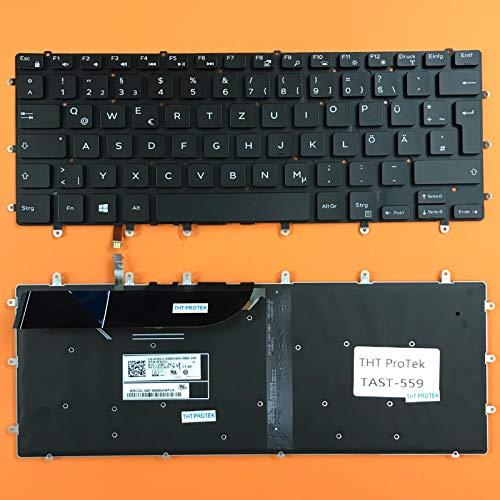 kompatibel für DELL XPS 15-9560 Tastatur - Farbe: Schwarz - mit Beleuchtung - ohne Rahmen Deutsches Tastaturlayout