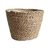 Aiong Maceta, cesta de almacenamiento de paja, interior y exterior, maceta, contenedor de plantas, sala de estar para el hogar, decoración del dormitorio