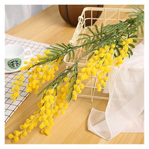 Zxebhsm Künstliche Blumen 88cm Große Gefälschte Acacia Künstliche Blumen Gelb Mimosa Spray Kirsche Obst Zweig Hochzeit Hause Tisch Dekoration Gefälschte Blume (Color : Yellow)