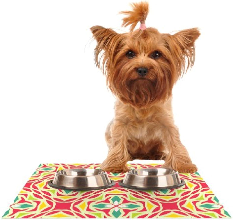 Kess InHouse Miranda Mol Christmas Carnival  Feeding Mat for Pet Bowl, 24 by 15Inch