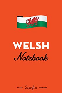 """Welsh Notebook: 6x9"""" Diary / journal to write in and record your thoughts."""