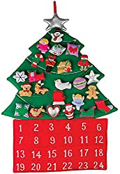 Decorate this fabric Christmas tree more and more each day of your countdown, using the velcro stuffed figures you remove from the pockets.
