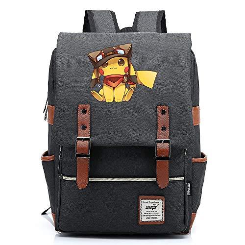 Anime Pikach Mochila Bolsa de la Universidad Se Adapta a hasta 15,6 `` Mochila Informal para computadora portátil Mochila Escolar Impermeable M-14 Pulgadas Color-05