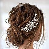 Edary Peine para el pelo de novia, boda, flores, niñas, accesorio para el cabello para mujeres y niñas