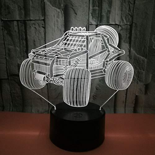 HGKDFT 3D-Nachtlicht 7 Farben ändern Noten-Schalter-Täuschungs-Lampen-Ausgangsdekoration Kunst Skulptur Licht (Size : Car1)