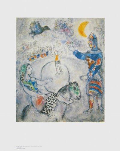Art-Galerie Kunstdruck/Poster Marc Chagall - Der große graue Zirkus - 68.0 x 85.0cm - Premiumqualität - Made IN Germany SHOPde
