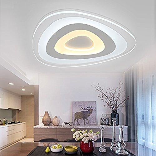 Lampada Parete Moderna Ultrasottile Plafoni LED Luce Soffitto Casa Salone Plafoniera 13W Triangolo Interno Bianco Caldo Out Bianco Freddo