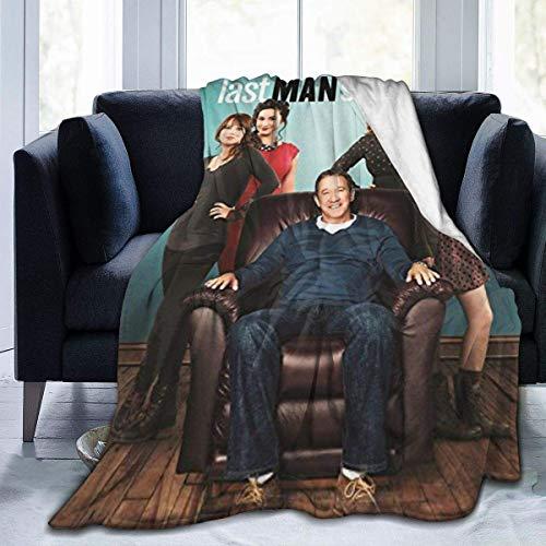 La-St M-an St-an-Din-g - Manta de forro polar de franela para viajes durante todas las estaciones, suave y cálida para sofá de oficina, empresa, sofá, cama, 152 cm x 50