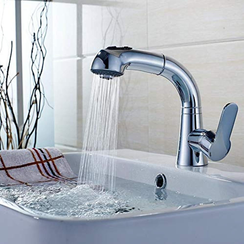Makej Kitchen Washbasin Tap Bathroom Wash Basin Basin Faucet Telescopic Liftable Pull Telescopic Basin Faucet