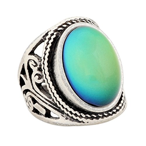 MOJO JEWELRY Handmade Unique Pattern Antique Sterling Silver Plating Oval Stone Color Change Mood Ring MJ-RS019 (9)