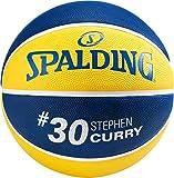 Spalding NBA Player Stephen Curry SZ.5 (83-866Z) Basketball, Juventute, Unisex, Yellow/Blue, 5