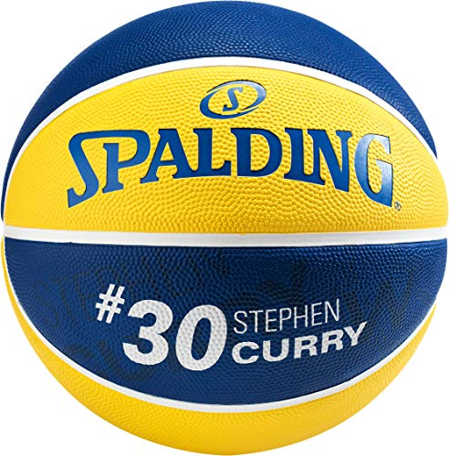 Spalding NBA Player Stephen Curry SZ.5 (83-866Z) Basketballs, Juventud Unisex, Yellow/Blue, 5