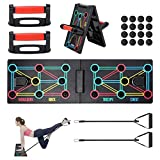shoplease Push up Board, 12 in 1 Liegestütze Brett mit Liegestütze Griff, Tragbares Liegestützbrett Faltbare mit Liegestützgriffe, Muscleboard für Männer/Frauen/Training/Heim Fitness