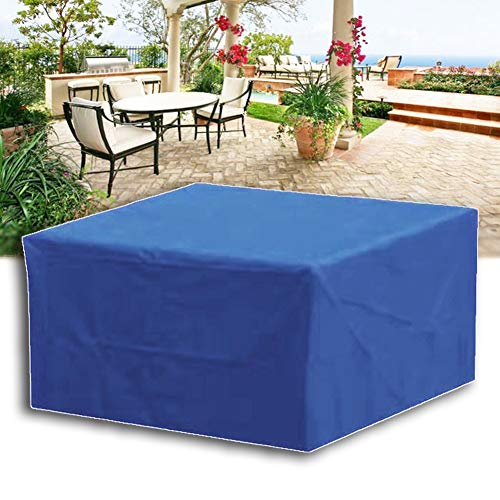 MAHFEI-Rattan Furniture Covers, Patio Set Cover For Rectangular Seats Garden Tables Adjustable Anti-UV Oxford Cloth Durable Free From Bad Weather Customizable