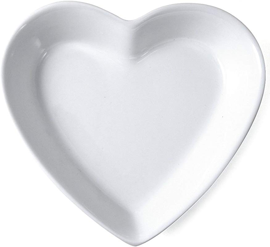 Omniware White Porcelain Heart Dish 5 5 Inch