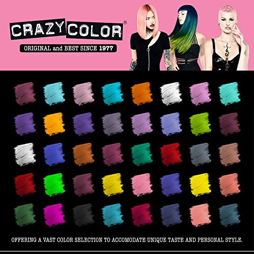 Crazy Color Hair Dye - Vegan and Cruelty-Free Semi Permanent Hair Color - Temporary Dye for Pre-lightened or Blonde Hair…