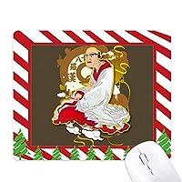 仏教仏教十八羅漢図 ゴムクリスマスキャンディマウスパッド