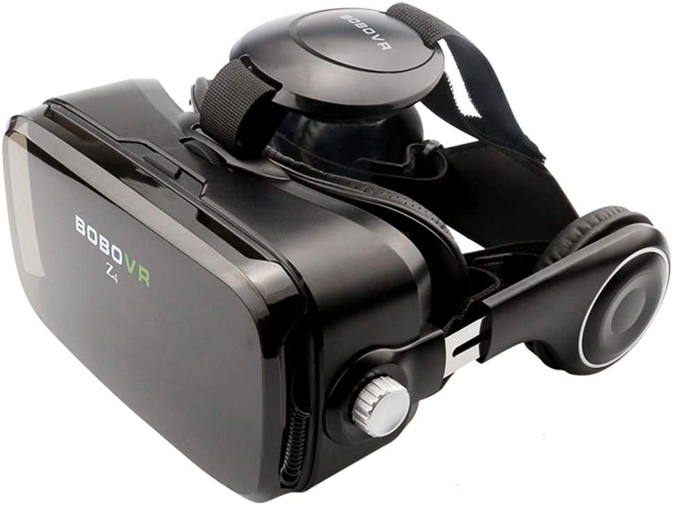 BOBOVR Z4 Virtual Reality Headset, 3D Glasses 120°FOV Adjustable Focal Length Stereo Headphone VR for 4.0-6.0 inch Smartphone (Black Z4)