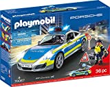 PLAYMOBIL 70067 City Action Porsche 911 Carrera 4S Policía, Multicolor